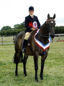 Photo of Carol Johnson on horse