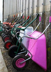 Wheel-barrows at Strumpshaw Riding Centre